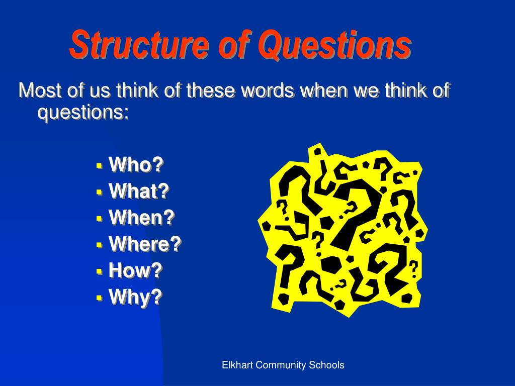 Structure of Questions