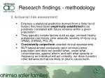 research findings methodology3