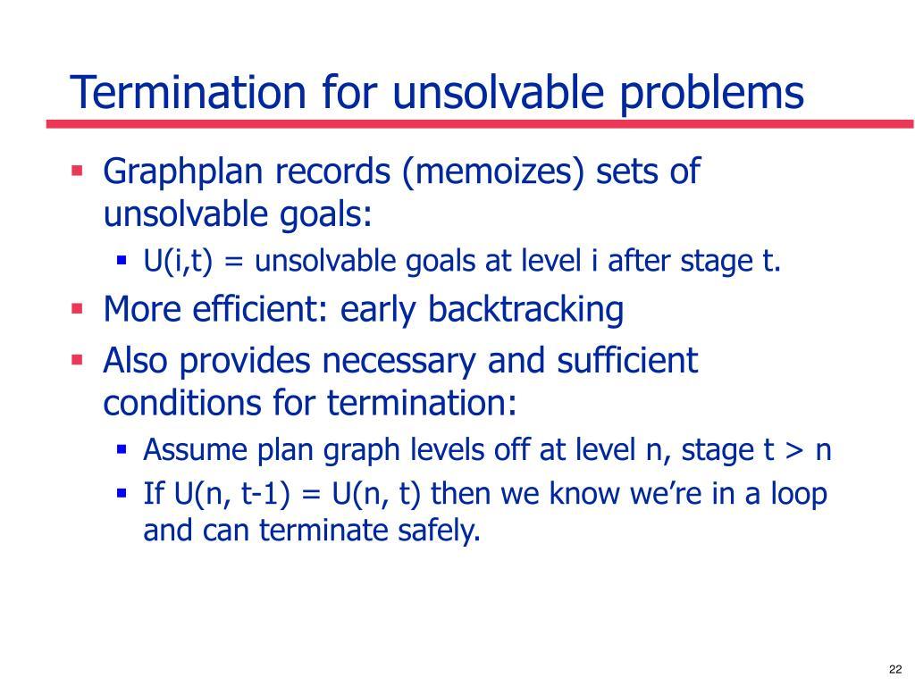 Termination for unsolvable problems