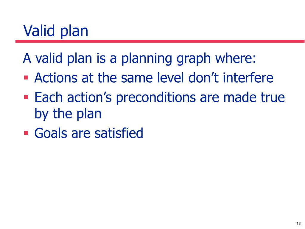 Valid plan