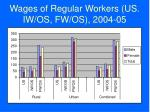 wages of regular workers us iw os fw os 2004 05