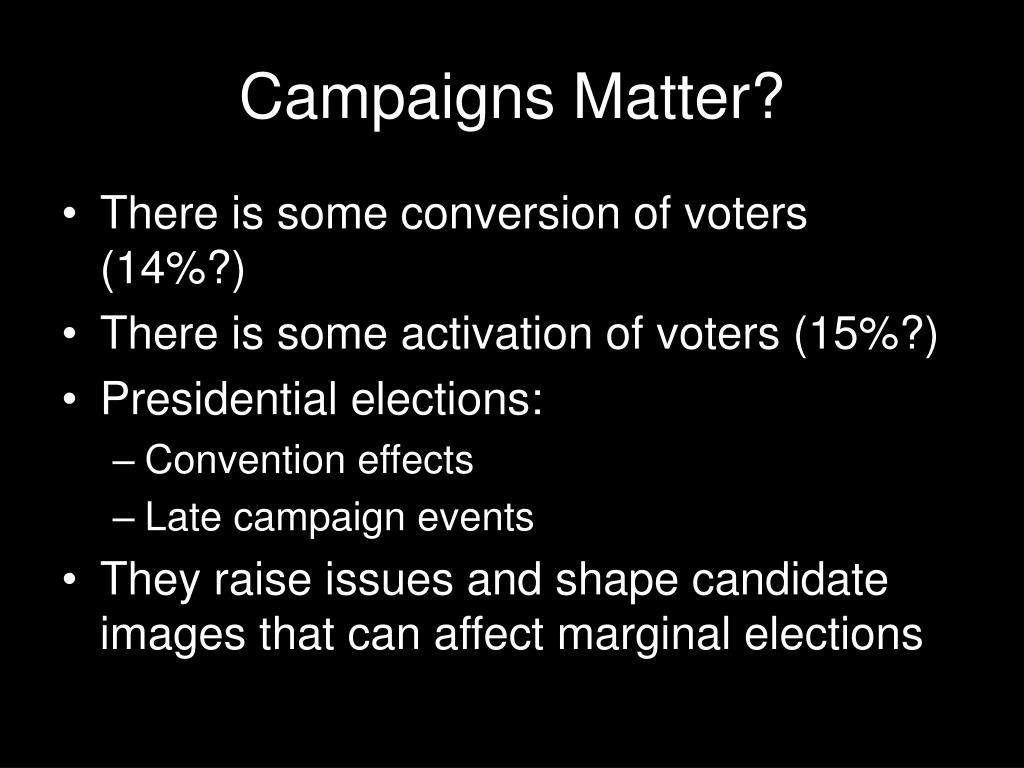 Campaigns Matter?
