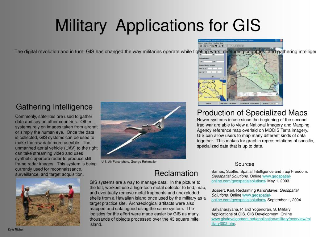 military applications for gis l.