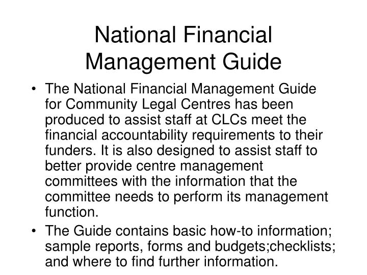 National financial management guide