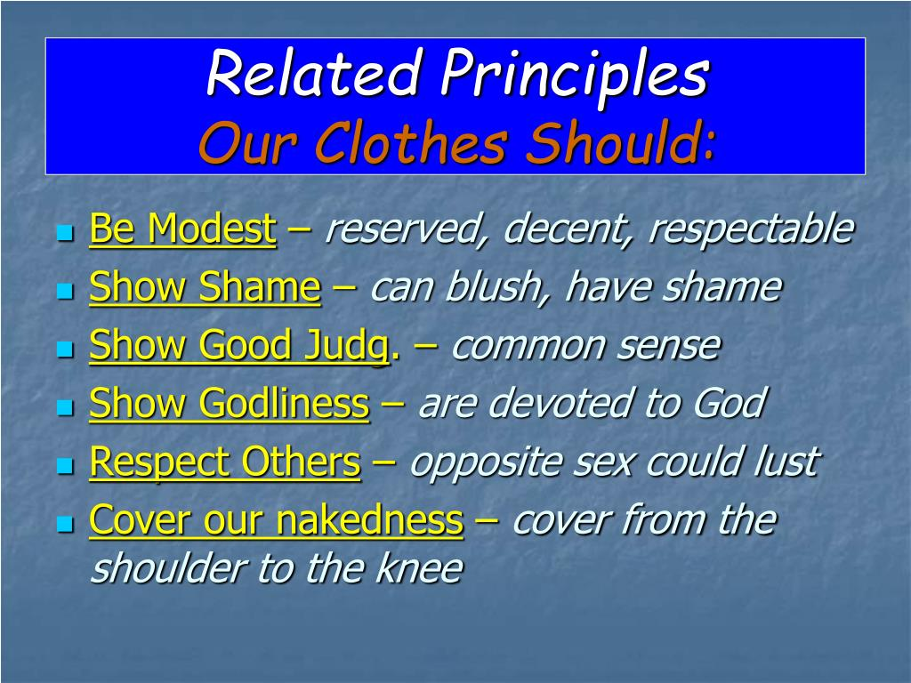 Related Principles
