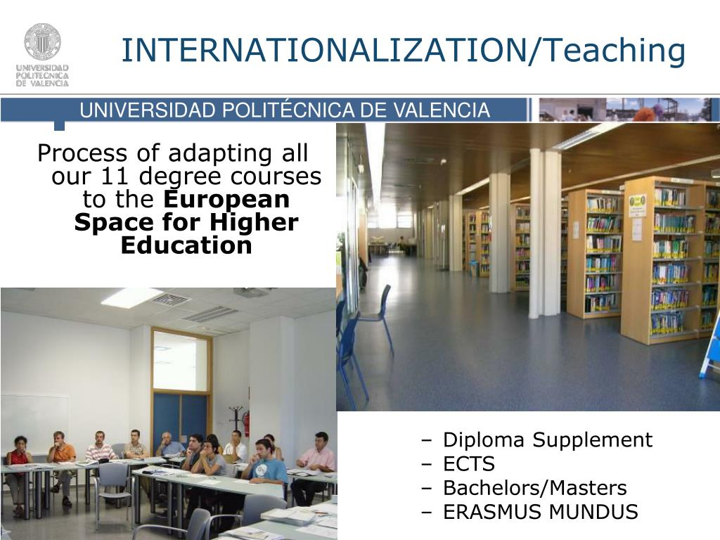 Process of adapting all our 11 degree courses to the