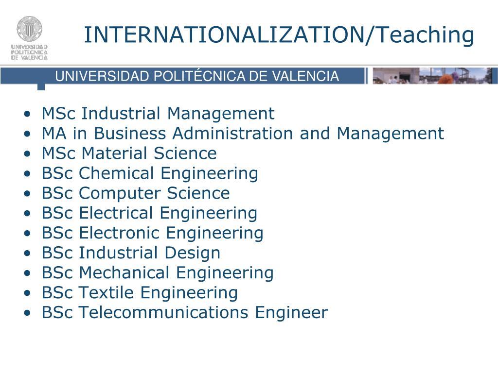 MSc Industrial Management