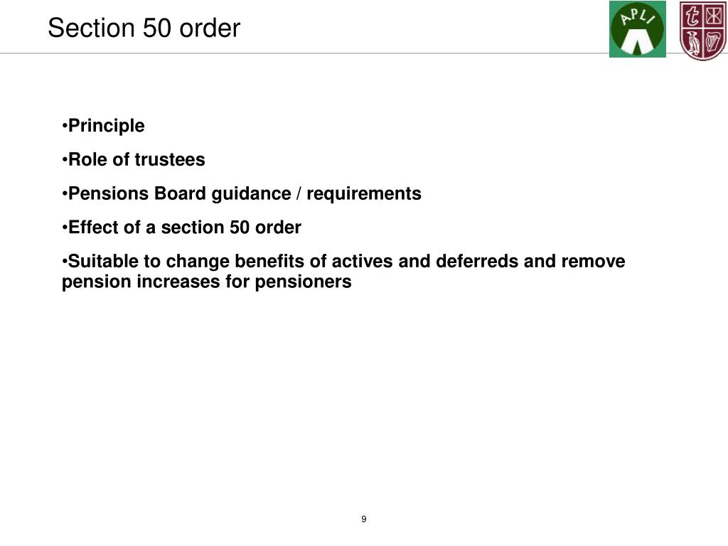 Section 50 order