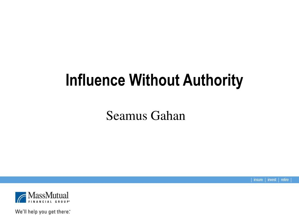influence without authority l.