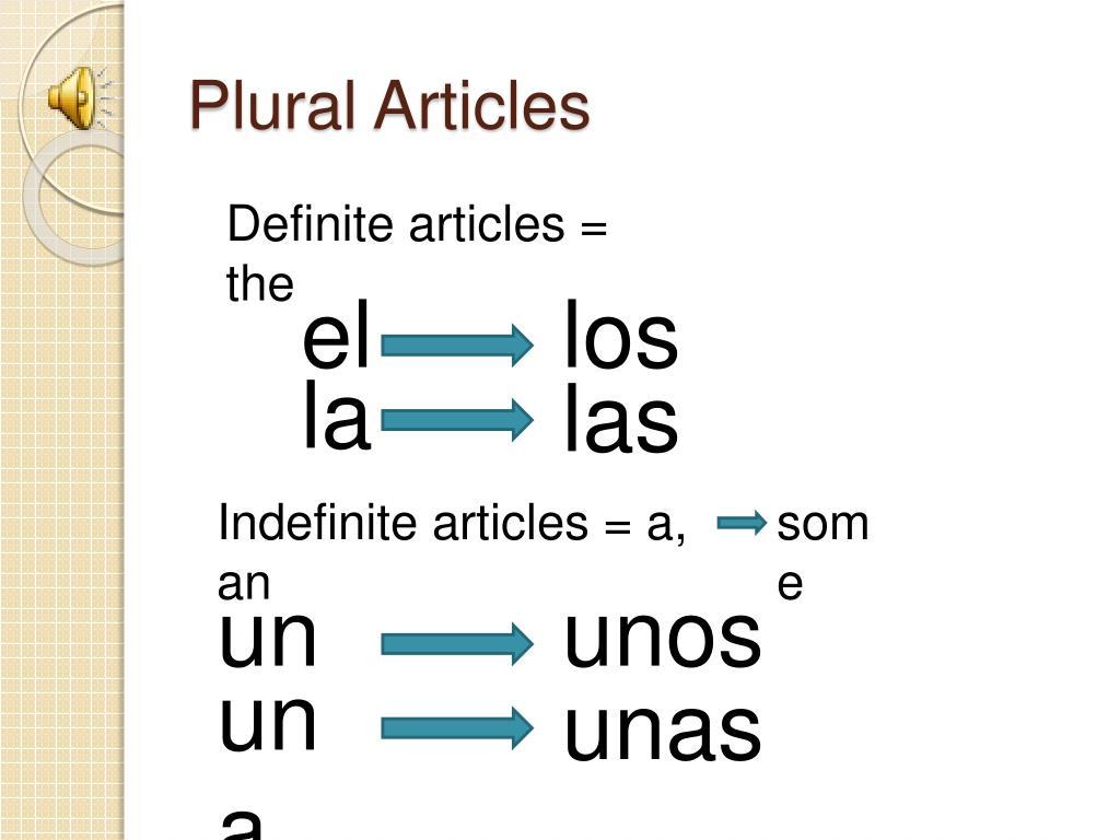 Plural Articles