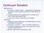 continuum solvation