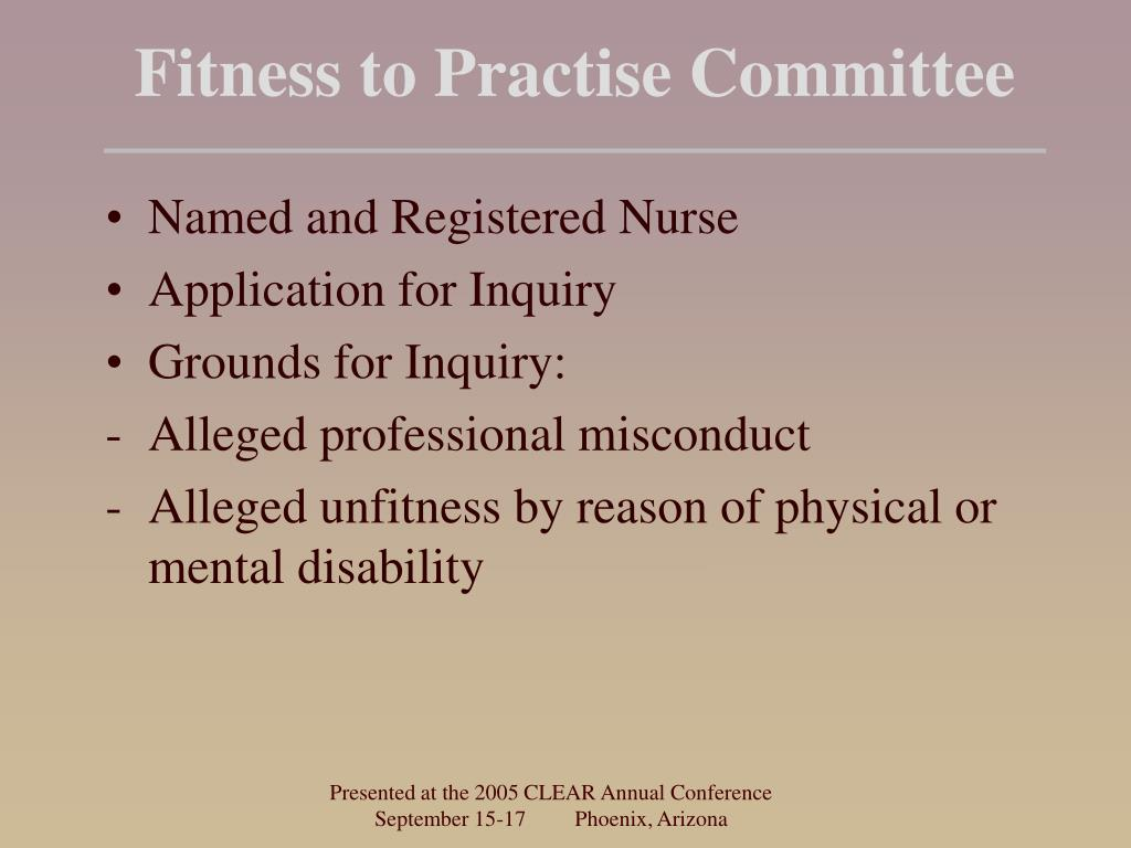 Fitness to Practise Committee