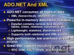 ado net and xml