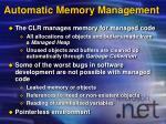 automatic memory management