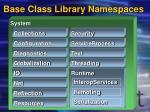 base class library namespaces