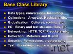 base class library