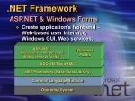 net framework asp net windows forms