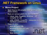 net framework on linux