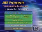 net framework programming languages