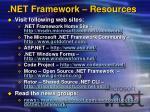 net framework resources