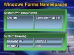 windows forms namespaces