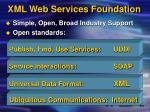 xml web services foundation