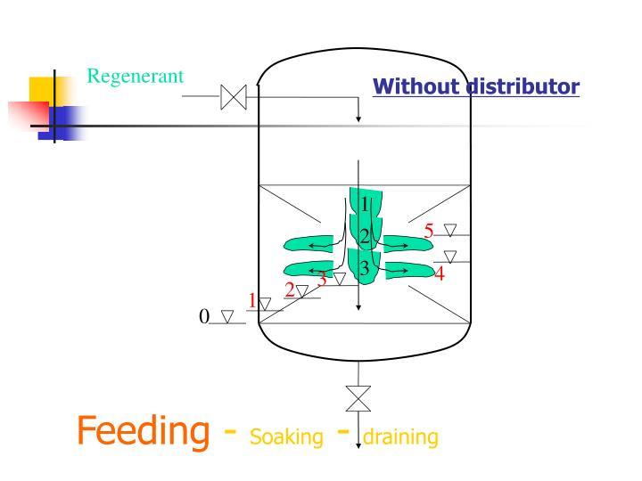 Feeding soaking draining