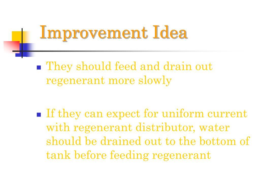 Improvement Idea
