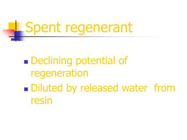 Spent regenerant