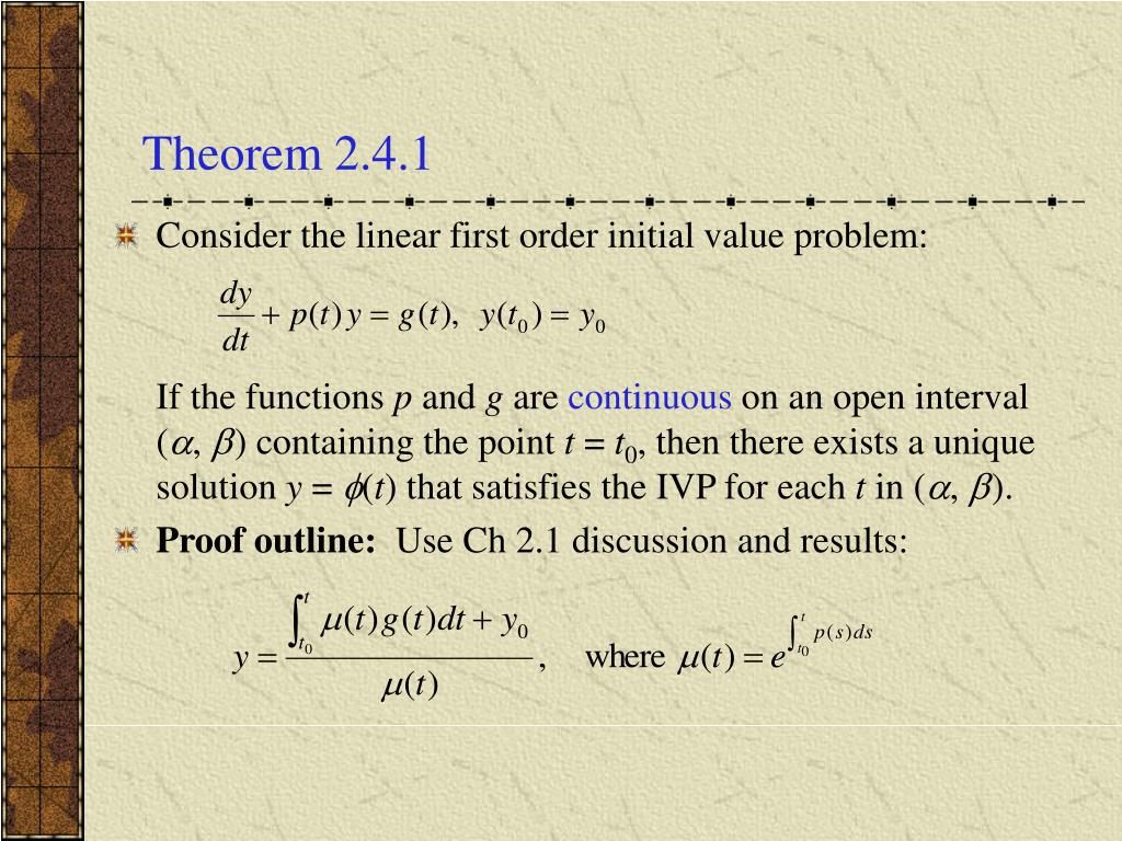Theorem 2.4.1