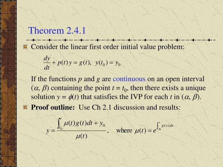 Theorem 2 4 1