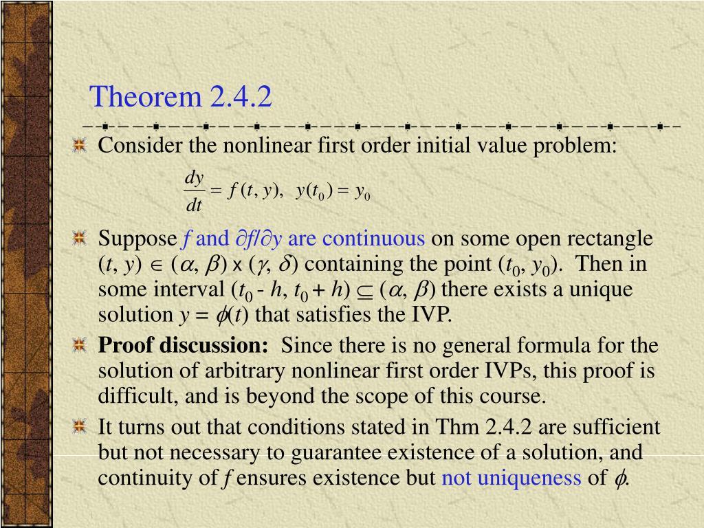 Theorem 2.4.2