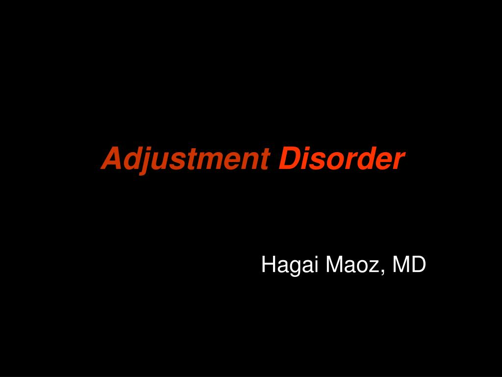 adjustment disorder l.