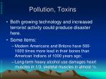pollution toxins
