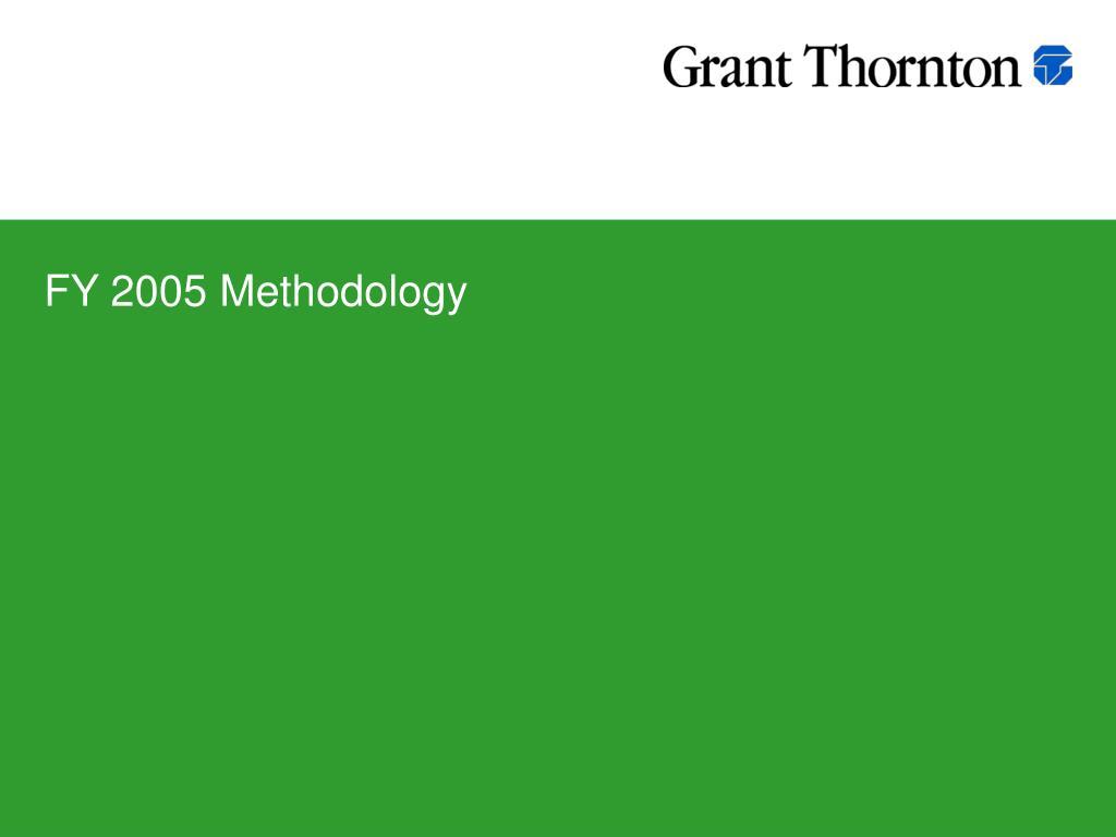 FY 2005 Methodology