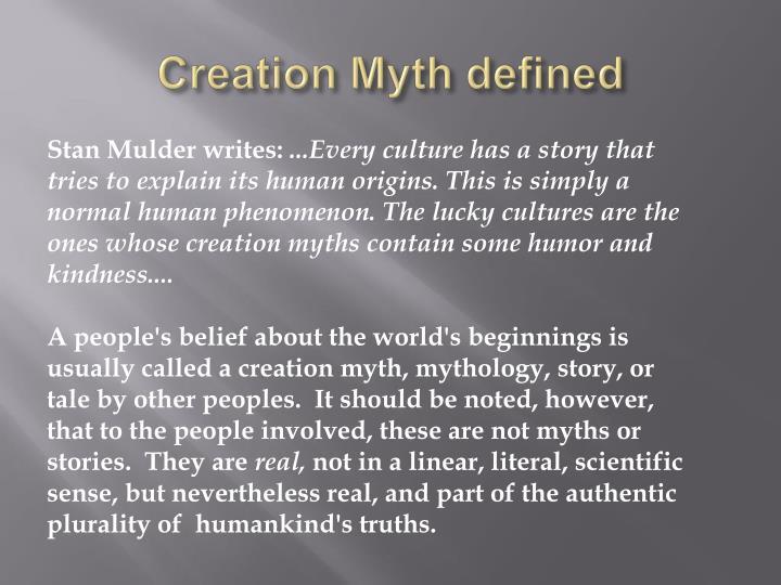 Creation myth defined