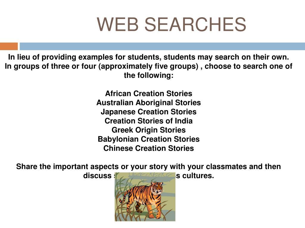 WEB SEARCHES