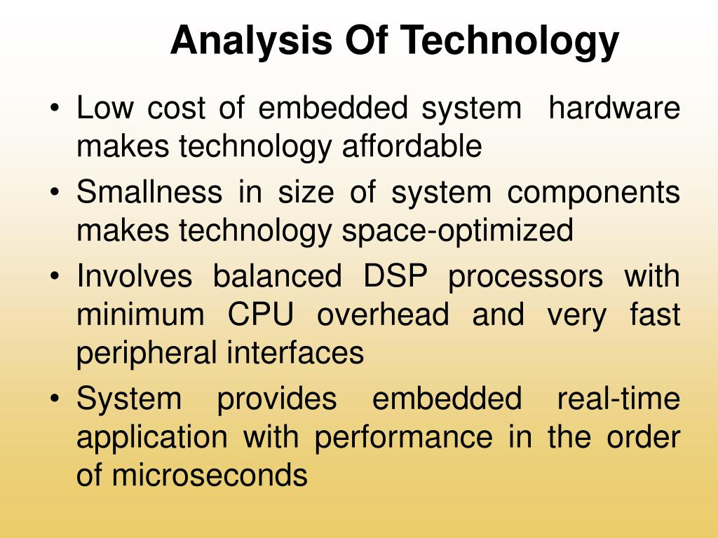 Analysis Of Technology