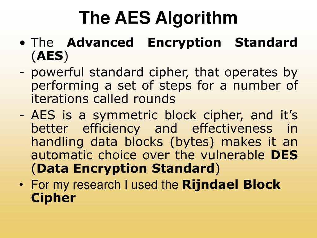 The AES Algorithm