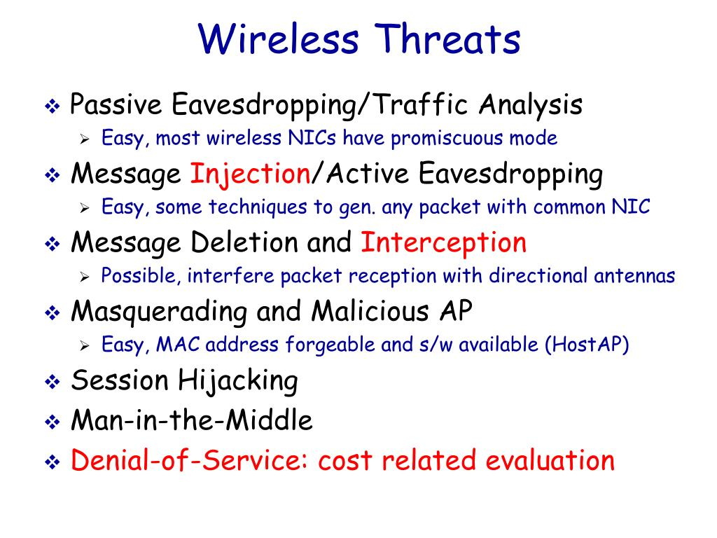 Wireless Threats