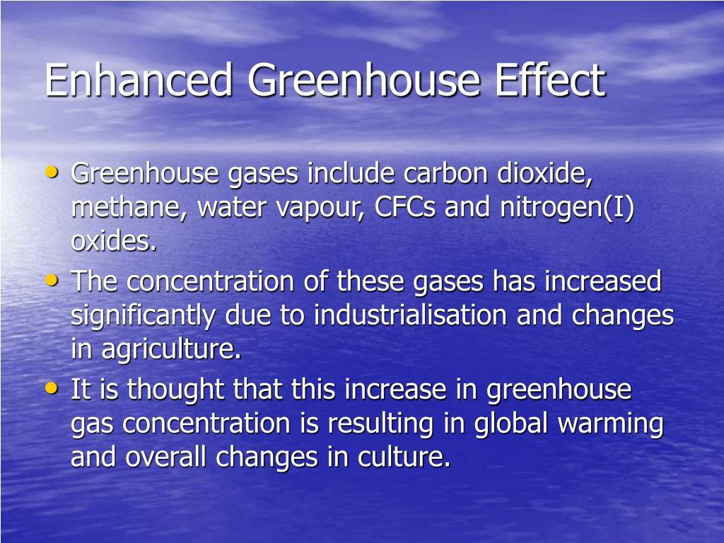 Enhanced Greenhouse Effect