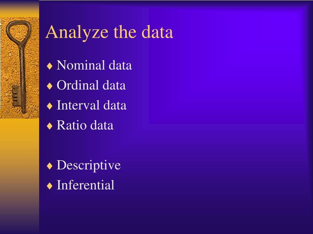 Analyze the data