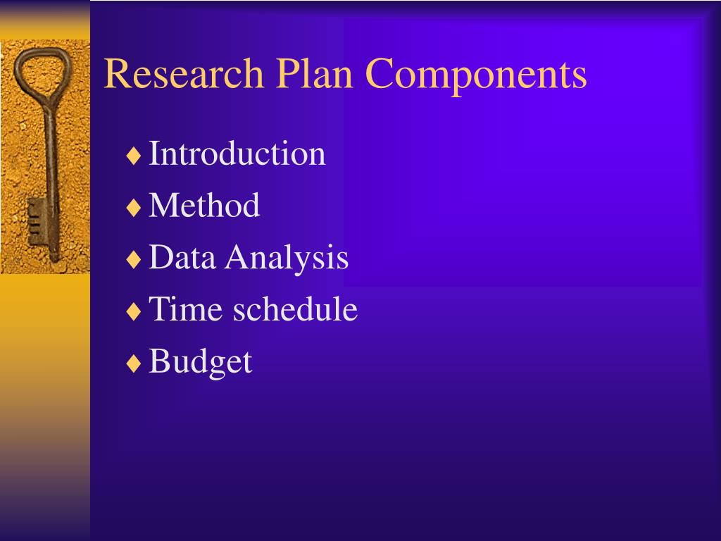 Research Plan Components
