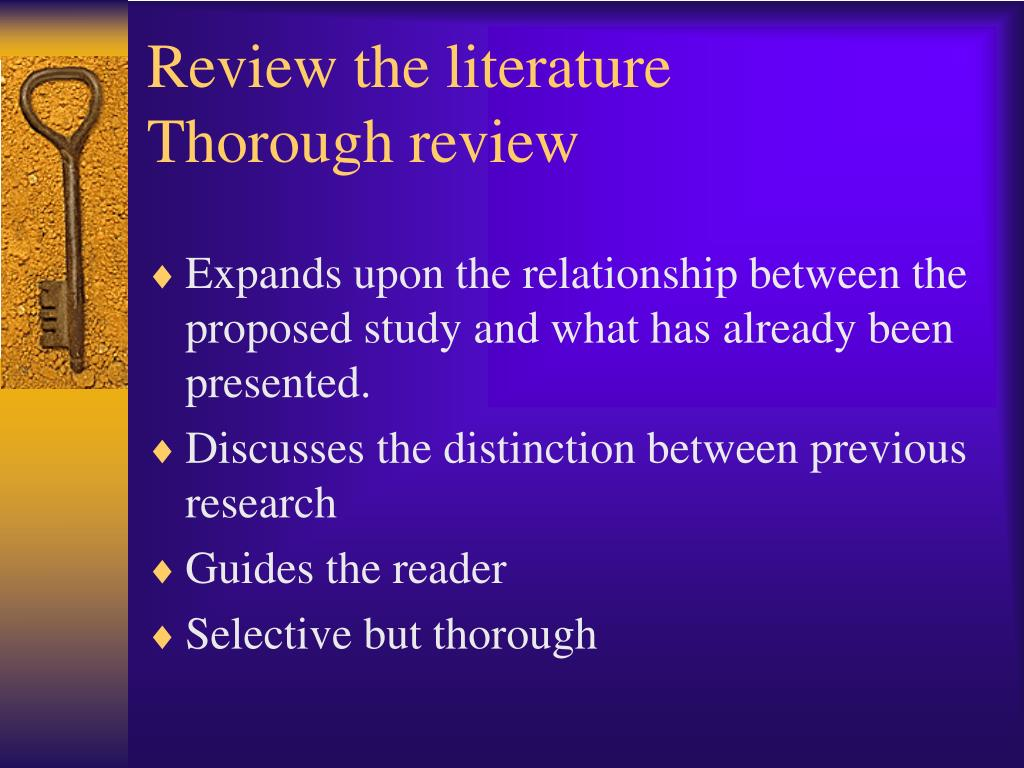 Review the literature