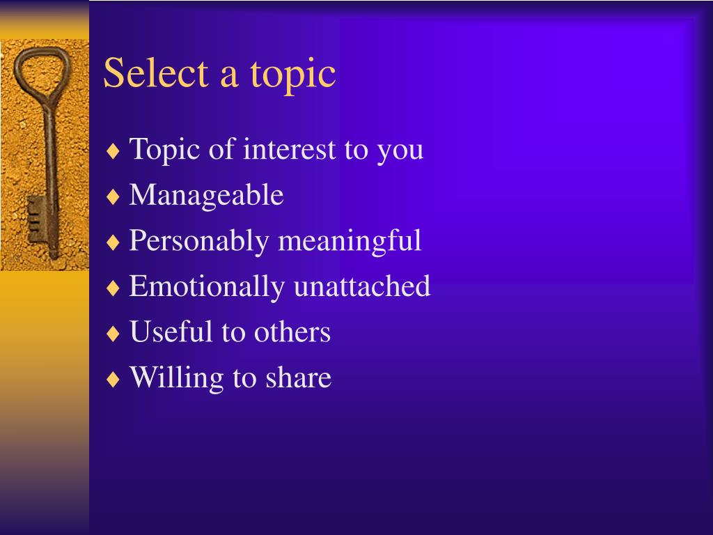 Select a topic