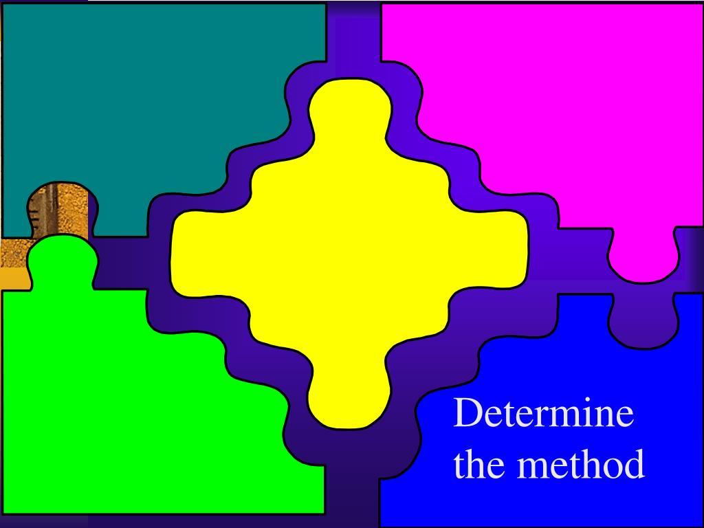 Determine the method