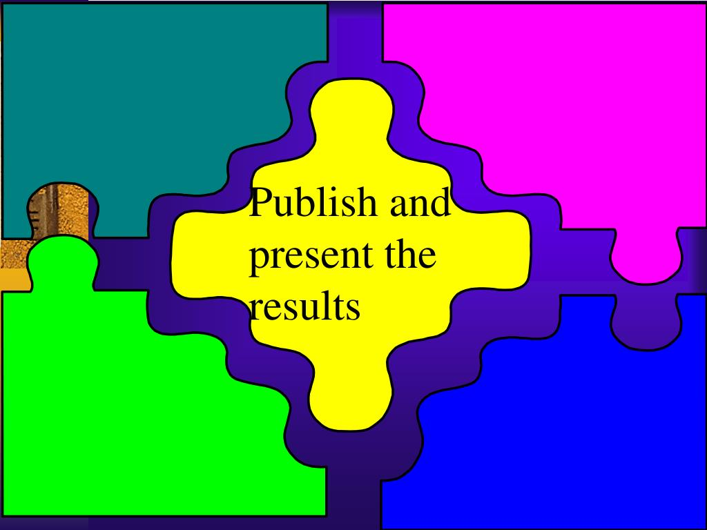Publish and present the results