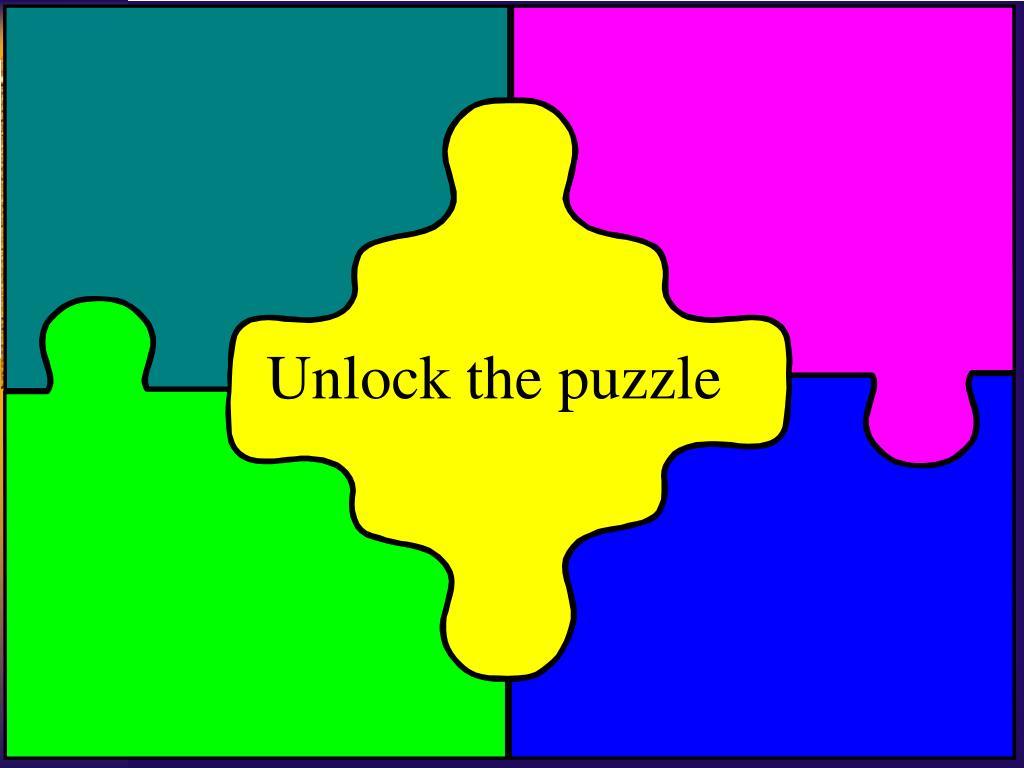 Unlock the puzzle