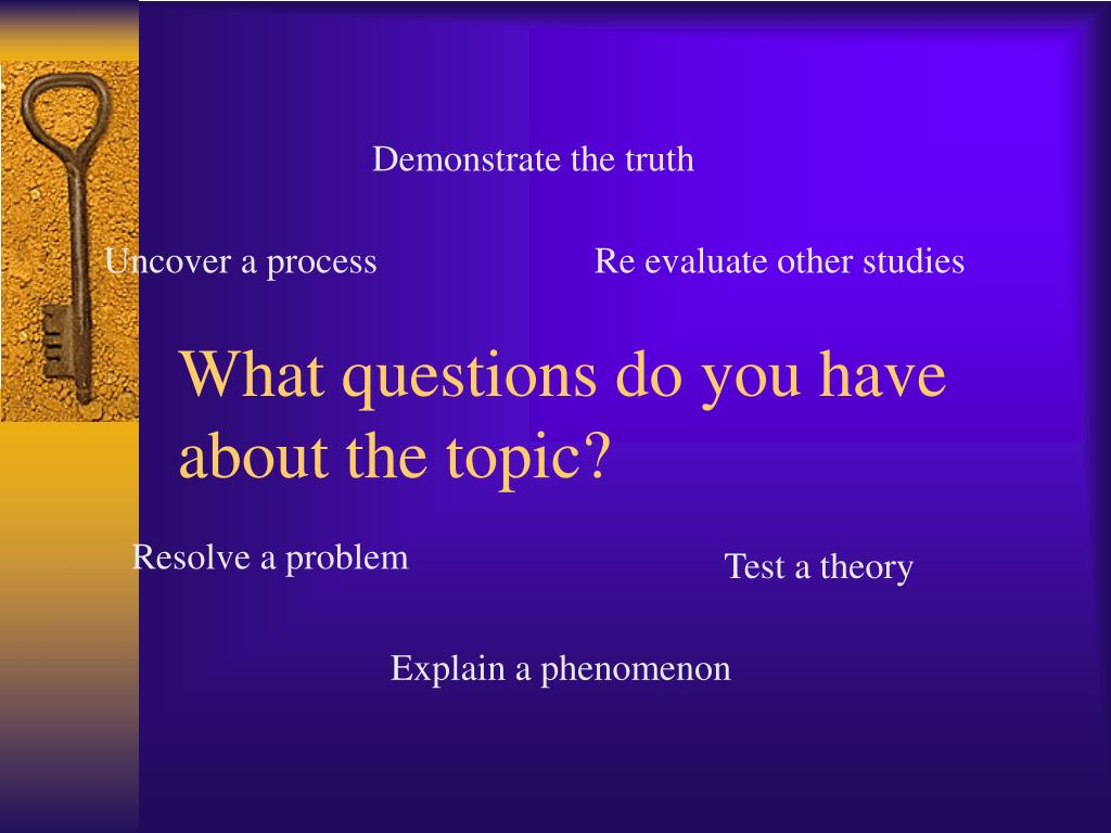 What questions do you have about the topic?