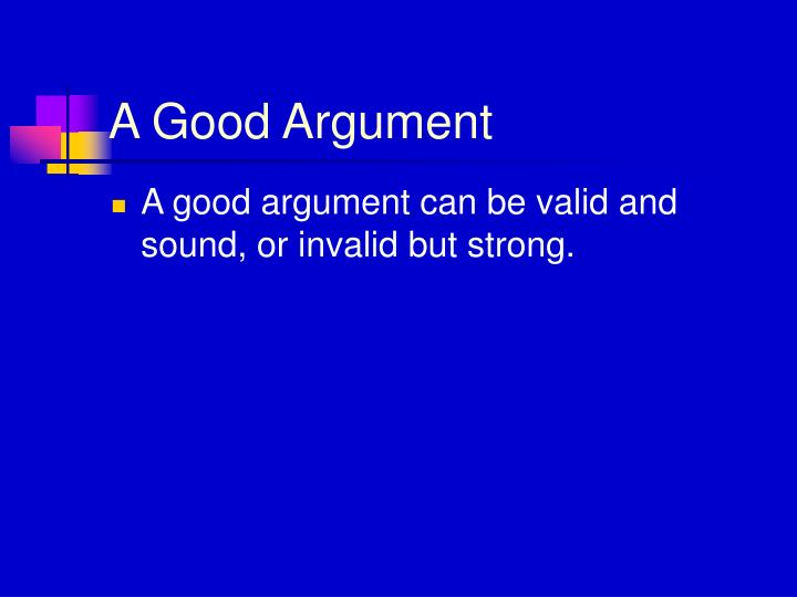 can a sound argument be invalid